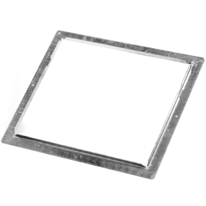 Aluminium instortflens 150×150 mm