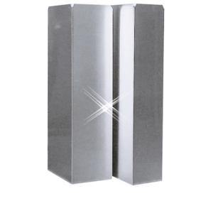 Aluminium instortkanaal 250×250 mm