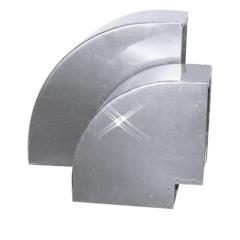 Aluminium instort bocht 90 graden 150×150 mm