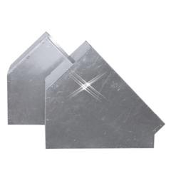 Aluminium instort bocht 45 graden 150×150 mm