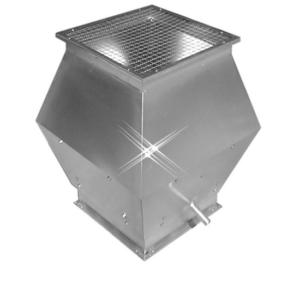 Aluminium instort deflectorkap 200×200 mm