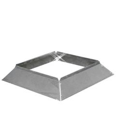 Aluminium instort stormkraag 150×150 mm