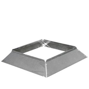 Aluminium instort stormkraag 250×250 mm