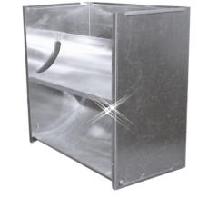 Aluminium instort uitblaaskap 510×510 mm