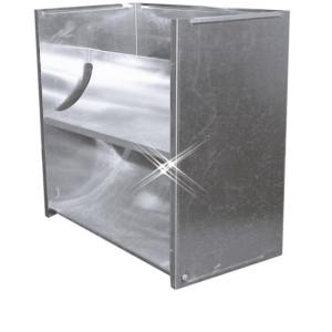 Aluminium instort uitblaaskap 1000×1000 mm