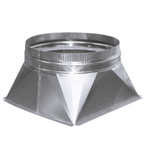 Aluminium instort verloopstuk 400×400 > 250 mm