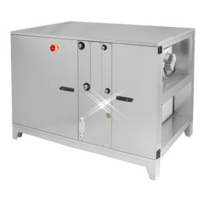 Luchtbehandelingskast warmtewiel 1390 m3/h (horizontale aansluiting)