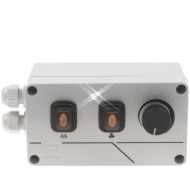 Snelheidsregelaar 10.0 ampère met verlichting schakelaar