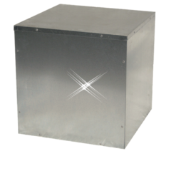 lege afzuigbox staal 450×450 mm