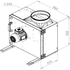 Ruck Rookgas Ventilatorbox 200°C | 2730 m³/h | MPS 250 D2 F4 30