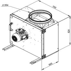 Ruck Rookgas Ventilatorbox 200°C | 4350 m³/h | MPS 355 D2 F4 30