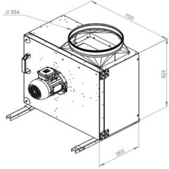 Ruck Rookgas Ventilatorbox 200°C | 4520 m³/h | MPS 315 D2 F4 30