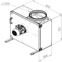 Ruck Rookgas Ventilatorbox 200°C | 11840 m³/h | MPS 560 D2 F4 30