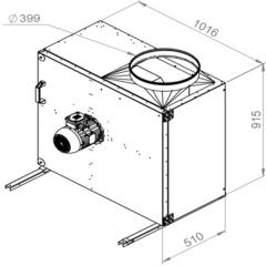 Ruck Rookgas Ventilatorbox 200°C | 7890 m³/h | MPS 500 D2 F4 31