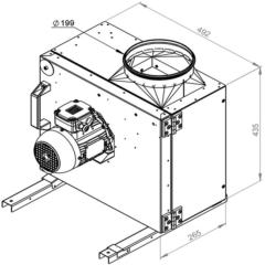 Ruck Rookgas Ventilatorbox 200°C | 1960 m³/h | MPS 225 D2 F4 30